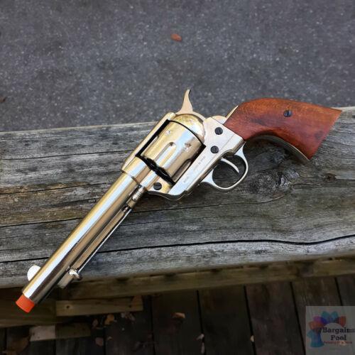 Denix 1873 Peacemaker Revolver 45 Replica Simulated Firing and Loading Nickel