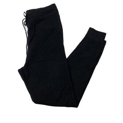 Le Kasha XS Black 100% Cashmere Jogger Pants Lounge Drawstring Waist