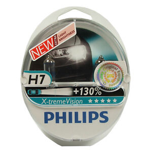 philips extreme xtreme vision h7 130 headlight bulbs ebay. Black Bedroom Furniture Sets. Home Design Ideas