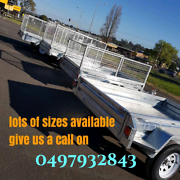 FULLY WELDED 8x5 CAGE BRAKED BOX TRAILER HEAVY DUTY GALVANISED Bayswater Knox Area Preview