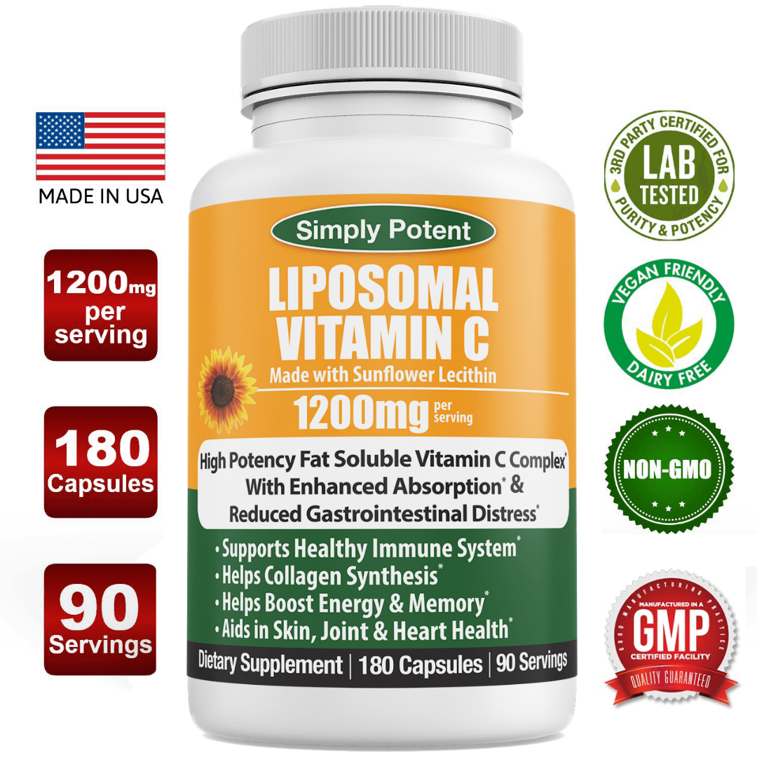 Liposomal Vitamin C 1200mg Immune Vitamin Immune System Support & Booster