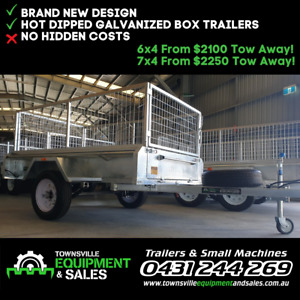 7x4 BOX TRAILERS IN STOCK! Garbutt Townsville City Preview