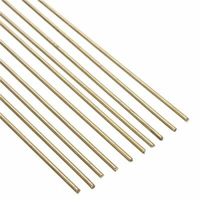 Brass Brazing Rod (10pc Brass Rods Wires Sticks 1.6x250mm Gold For Repair Welding Brazing)