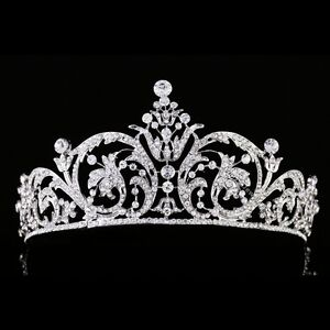 Bridal Pageant Rhinestone Crystal Wedding Prom Crown Tiara 7967