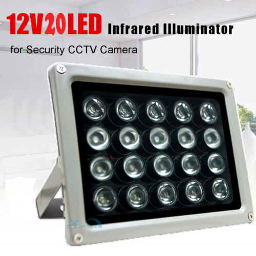20 LEDs Infrared illuminator CCTV IR Light Night Vision 100M 12V Lamp Fit Camera