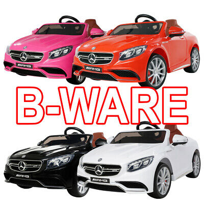 B-Ware Kinder Elektro Auto Mercedes Benz AMG S63 Kinderfahrzeug Lizenz gebraucht