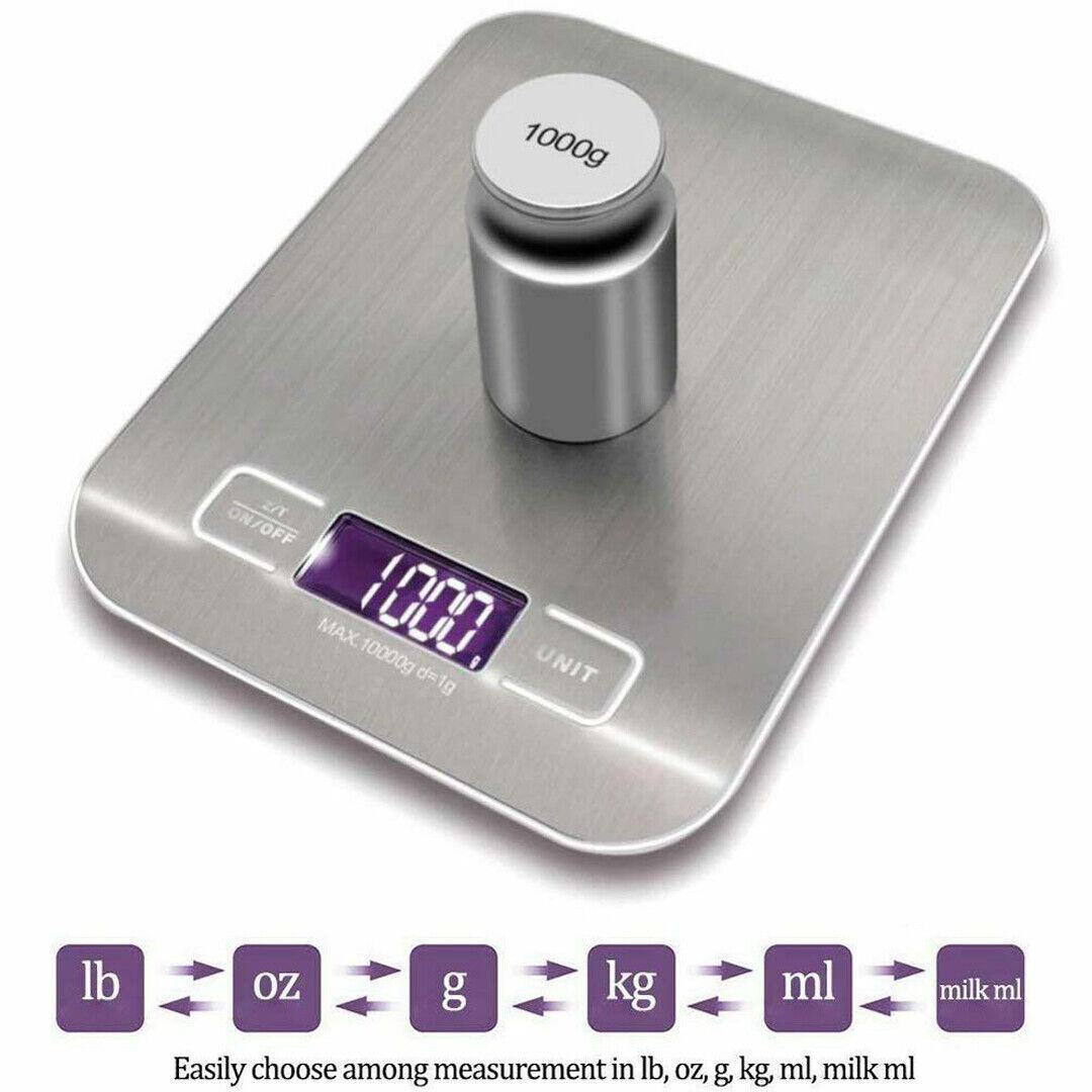 10KG Balance LCD électronique inoxydable De Précision Cuisine Numérique FR