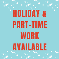 Customer Service & Sales Positions - Student Work / Holiday Work