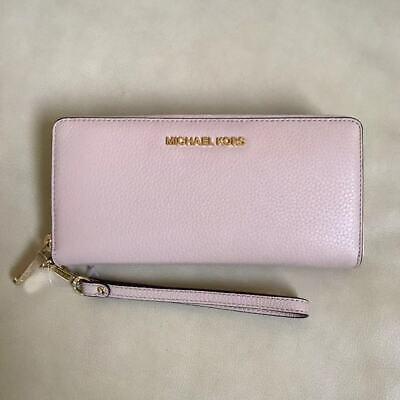 NEW Michael Kors Blossom Leather Zip Around Continental Leather Wallet Wristlet
