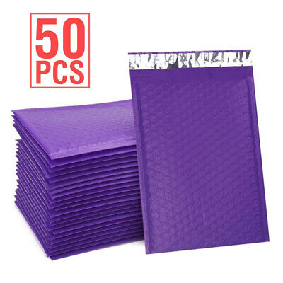 Durable Padded Envelopes 6x10 Bubble Wrap Mailers Poly Dvds Cds Purple Jewelry 0
