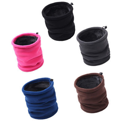 Layer Scarf - Dual-layers Thick Fleece Thermal Neck Warmer Tube Gaiter Scarf Ear Face Mask Hat