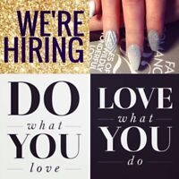 HIRING Aestheticians and Nail Technicians