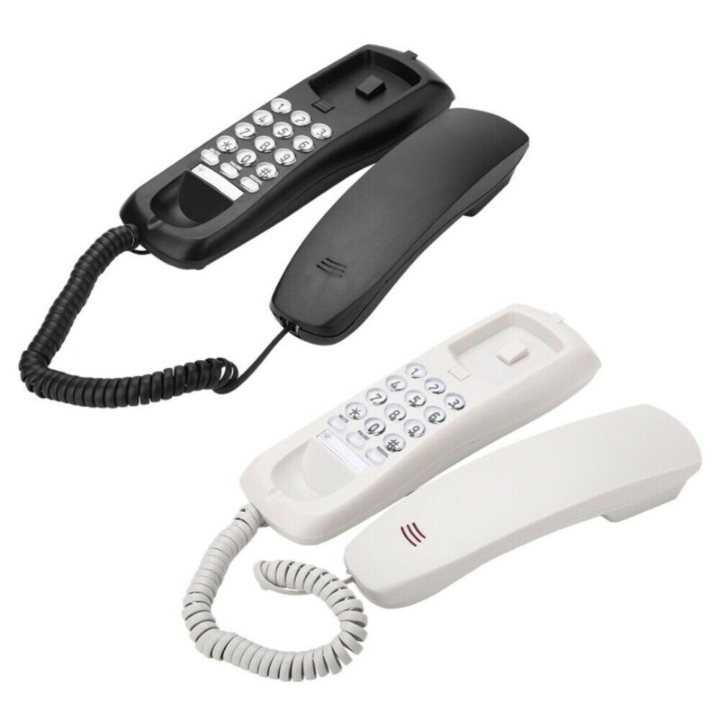 Corded Phone Desk Wall Mounted Telephone Home Landline Calle