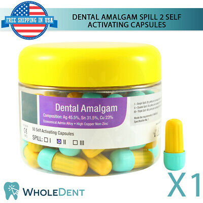 Dental Amalgam Spill 2 Self Activating Filling Tooth Cavity 50 Capsules 600mg