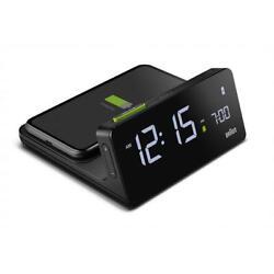 Braun BN-BC021B Black Digital Wireless Charging  Dock LCD Alarm Clock
