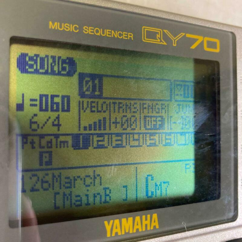 YAMAHA QY70 Sequencer with AC Adapter(100-240V) Rhythm Machine