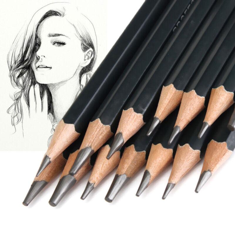 14pcs Artists Sketch Drawing Pencil Set 12B-6H Sketching Art