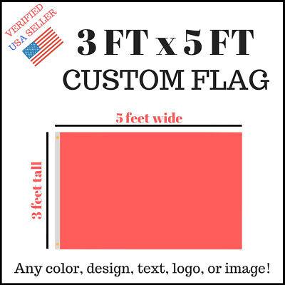Custom 3x5 Full Color Single Sided Custom Flag Usa Seller Fast Communication