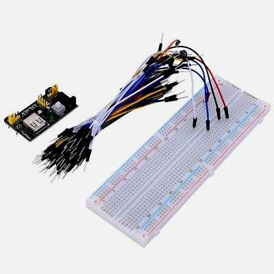Mb-102 Solderless Breadboard Pcb 65pcs Jump Cable Wires 830 Point Power Supply