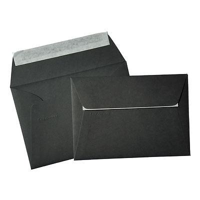 50 Briefumschläge DIN C6 Schwarz 114x162 Pollen Clairefontaine schwarze Kuverts