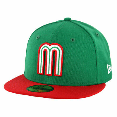 New Era 5950 Mexico National Baseball Team Fitted Hat (KGR/Scarlet RD) Men's (Rd National)