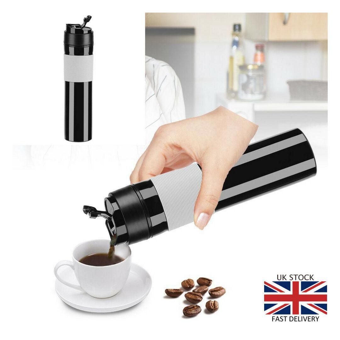 Portable Mini Espresso Maker Pressure Coffee Tea Machine Tra