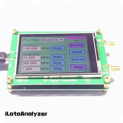 23.5-6000m Rf Signal Generator Frequency Sweep Touch Screen Pc Controllable New