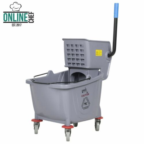 Commercial Wet Mop Bucket & Wringer Combo 35 Quart Gray  Janitorial Hotel Home