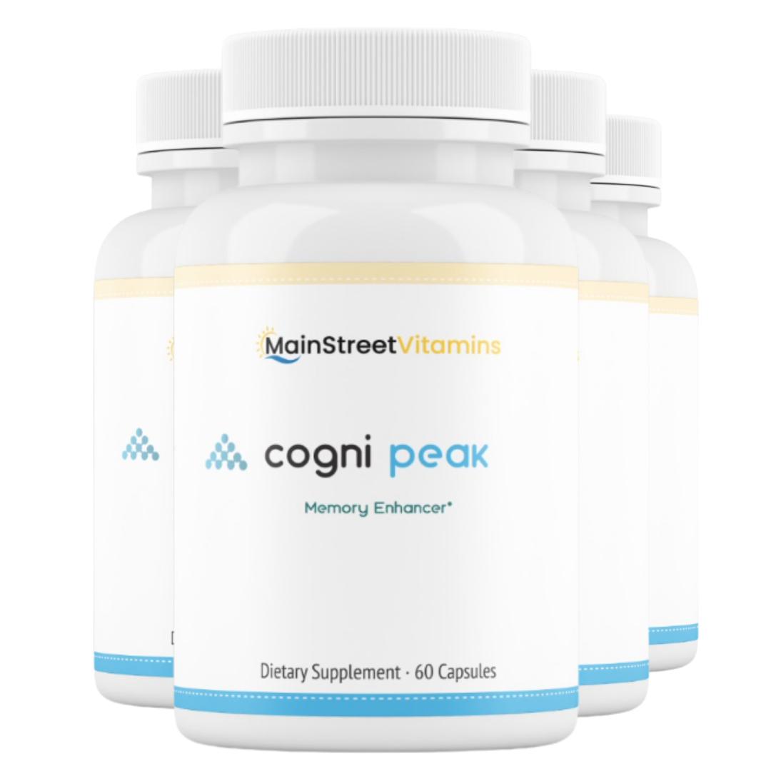 4 Cogni Peak Memory Enhancer -  60 Capsules -240 Capsules - 4 Bottles
