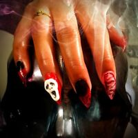 Get your Halloween nails. Real Gel Nails, Manicures,Pedicures