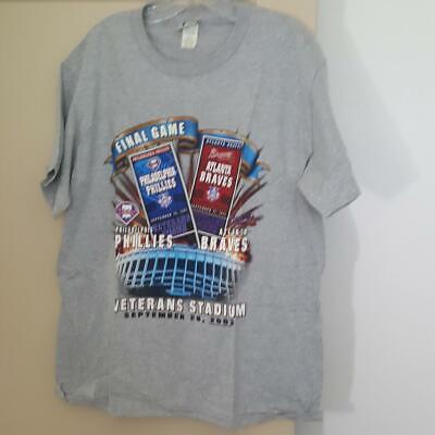 Lee Philadelphia Phillies Veterans Stadium Final Game T-Shirt 2003 Baseball MED Final Game Baseball