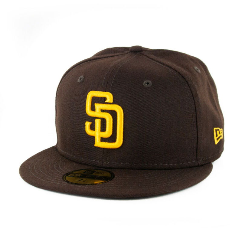 New Era 59Fifty San Diego Padres GAME Fitted Hat (Dark Brown) Men