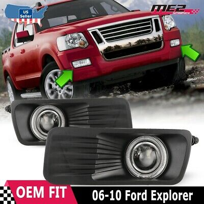 For Ford Explorer 05-09 Factory Replacement Halo Projector Fog Light Clear Lens 09 Factory Replacement