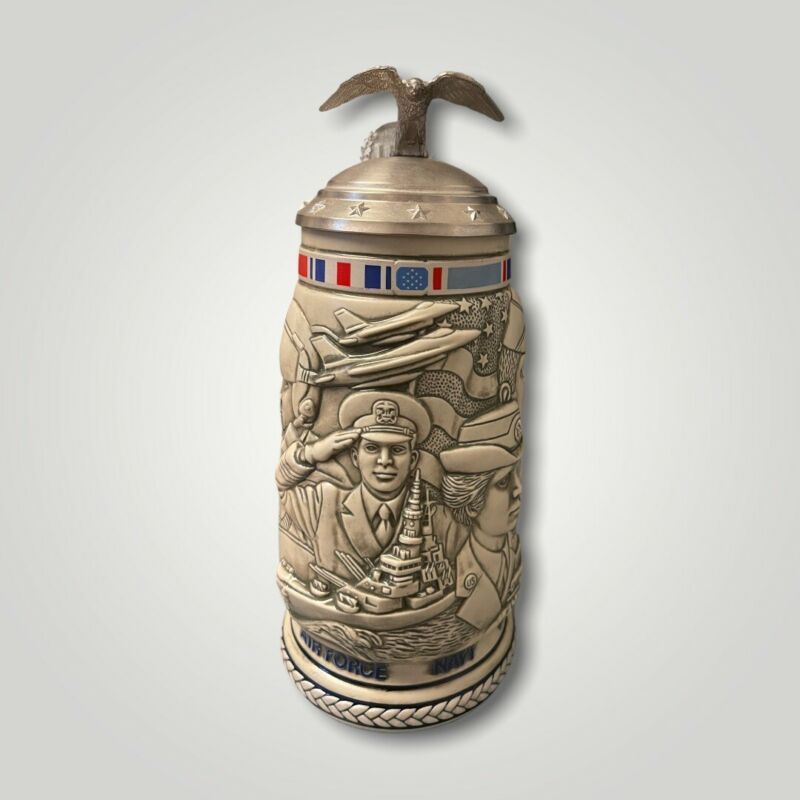 1990 Avon Tribute To The American Armed Forces Stein Beer Mug , new