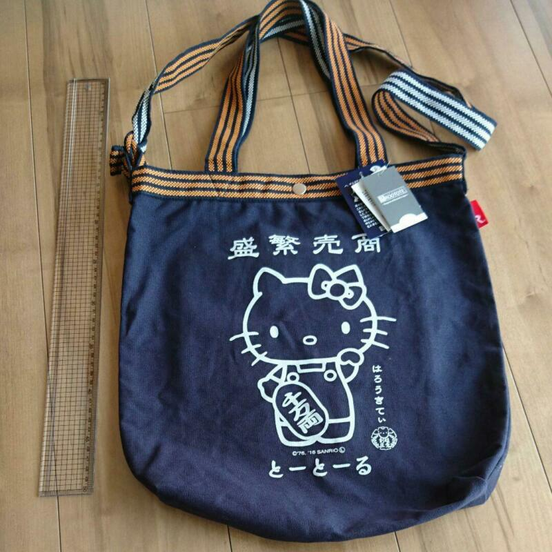 Used ROOTOTE TALL Shoulder 2way Japanese style tote bag Hello Kitty Sanrio cute
