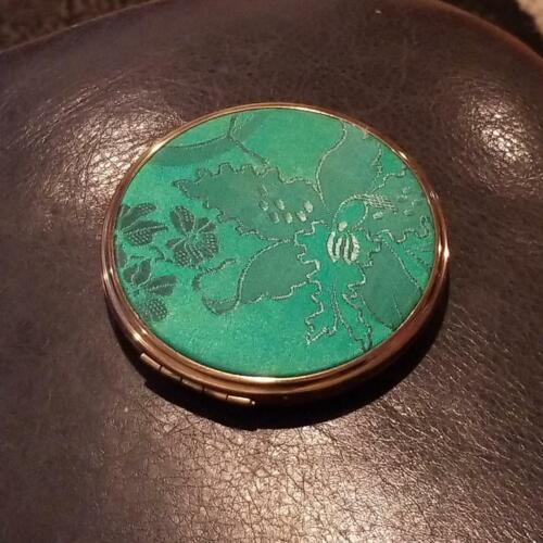 "Vintage Green Mirrored ""New Light"" Compact"