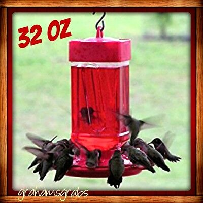 FIRST NATURE HUMMINGBIRD FEEDER  32 OZ WIDE MOUTH #3055 EASY CLEAN WITH 10 PORTS