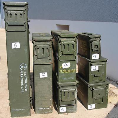 Bundeswehr Kiste Munitionskiste aus Metall der U.S. gebraucht mit dichtung Gr. 4