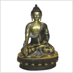 Medizin Buddha Messing Medizinbuddha 33 cm ca.4 KG Buddhismus Heilung Gesundheit