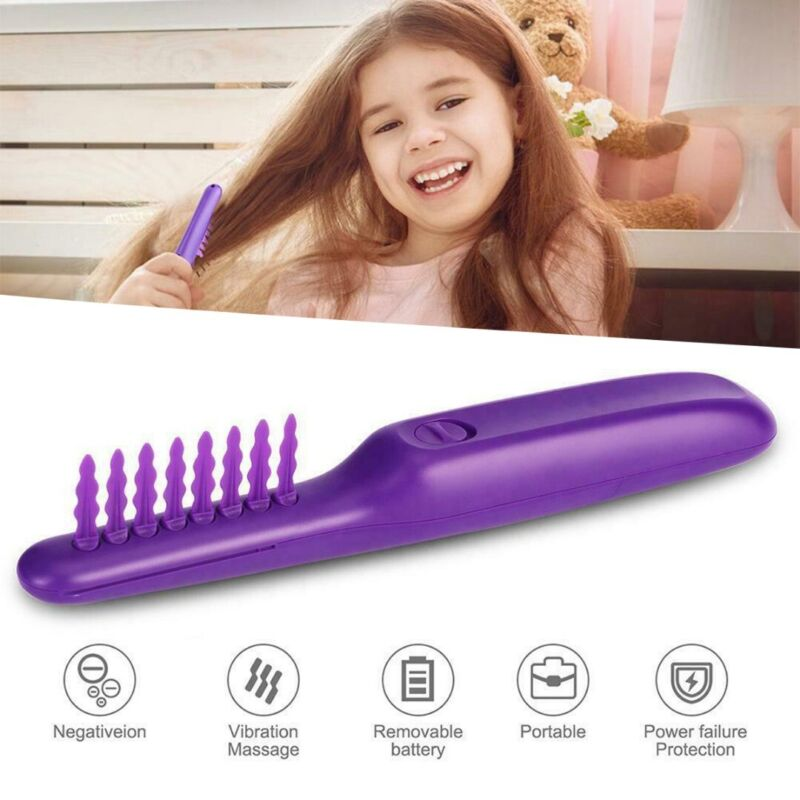 Electric Detangling Brush Hair Curly Detangle Brush Scalp Ma