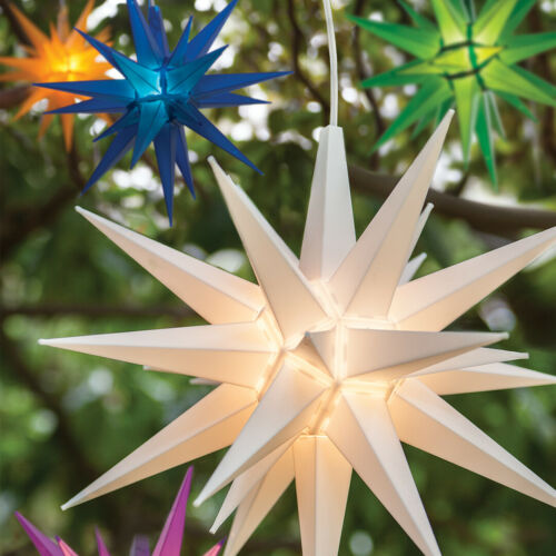 "14"" LED Moravian Star Kits 3D Indoor Outdoor Christmas Holiday Home Advent Decor"