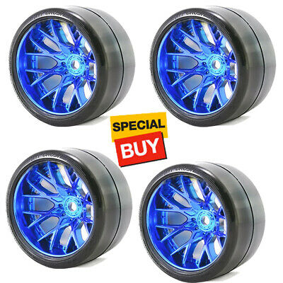 Sweep Racing SRC Monster Truck VHT Crusher Belted Tires w/ WHD Blue Wheels (4)