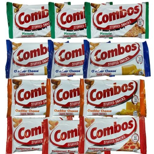Combos Baked Snacks Classic Variety Pack of 12 - 4 Flavors (Cheddar Cheese Pretz
