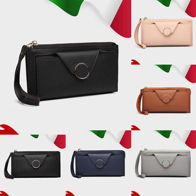 Fashion Ladies Women Faux Leather Clutch Purse Long Card Package Girls Wallet