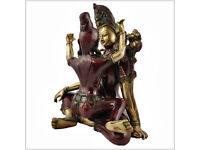 Buddha Shakti Shiva Messing Tantra Tantraismus Yab-Yum Vajrayana Upaya Prajna