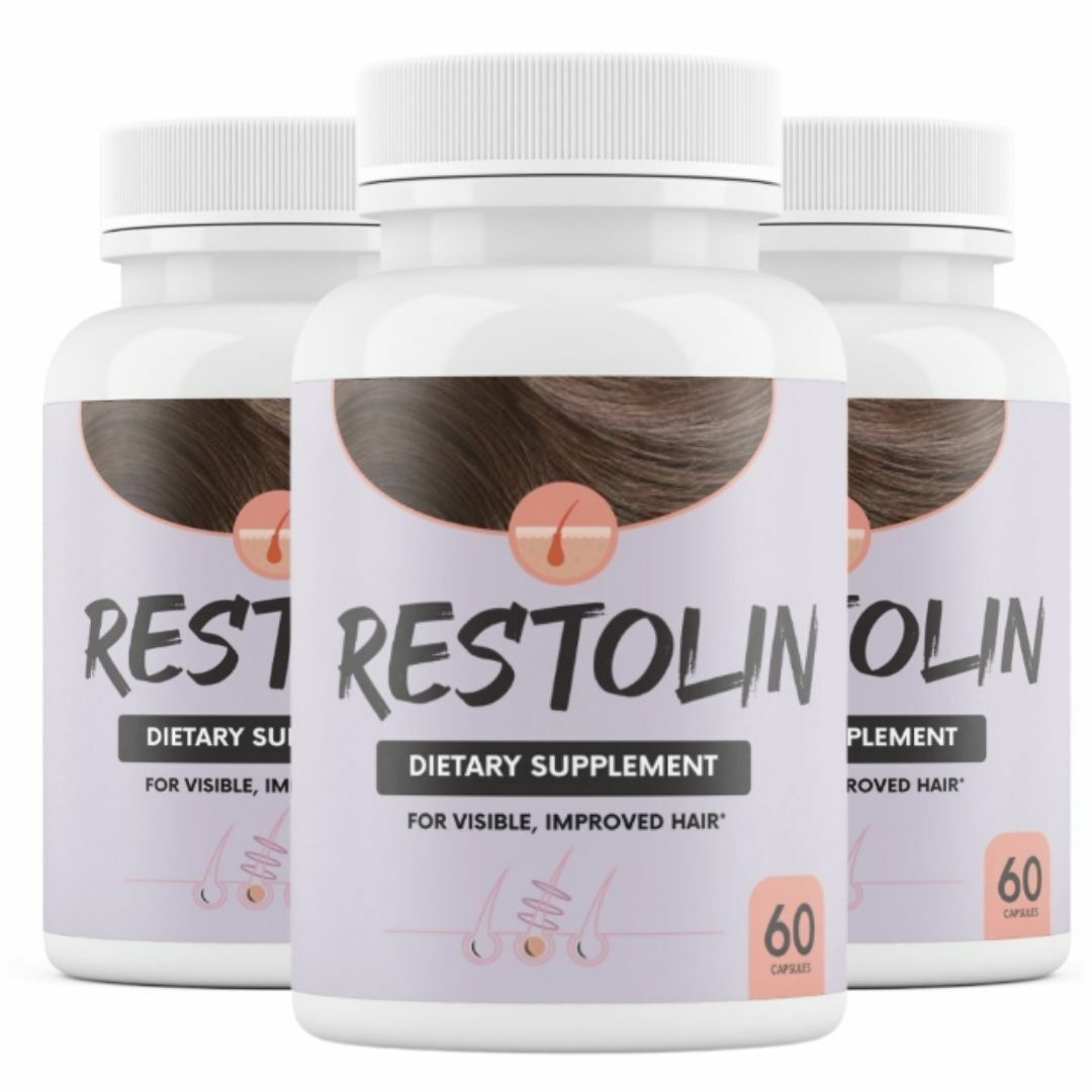 3 Pack Restolin Hair Skin and Nails Supplement 60 Capsules x 3
