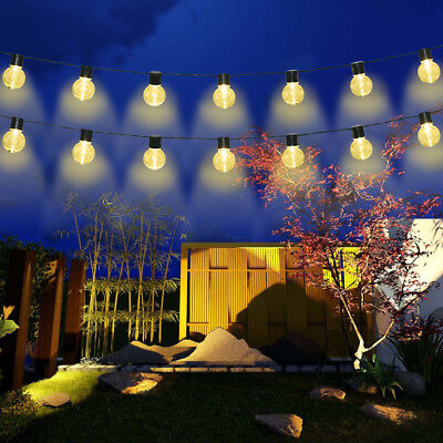 Globe Outdoor String Lights Patio Party Xmas Yard Waterproof Solar 10 LED Bulbs ()