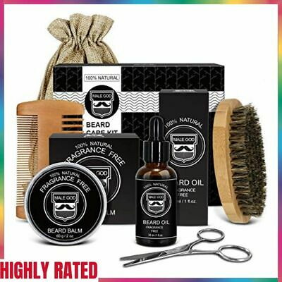 BEARD GROOMING KIT for Men Mustache Growth Care Facial Hair Trimming MALE GOD