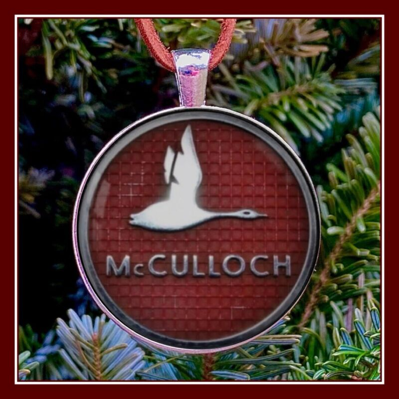 Vintage McCulloch Chain Saws Emblem Photo Ornament Gift Free Shipping Chainsaw