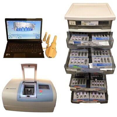 Planmeca Planscan E4d Dental Cad Scanner W Wand Asus Laptop D4d Mill Blocks